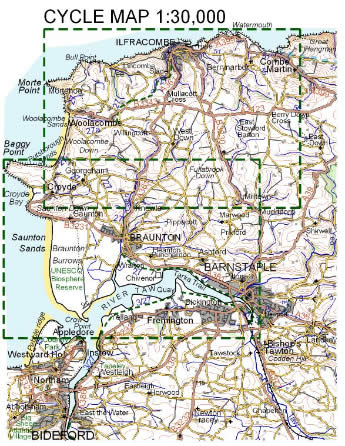 1:100000 maps of Devon, Cornwall and part of Somerset